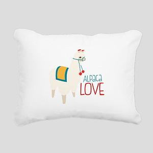 Alpaca Love Rectangular Canvas Pillow