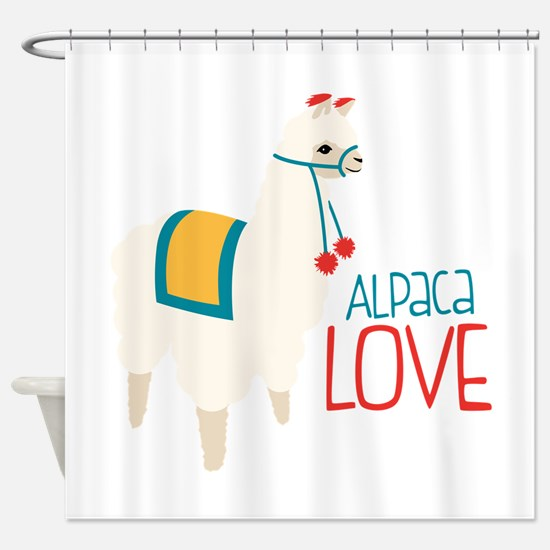 Alpaca Love Shower Curtain