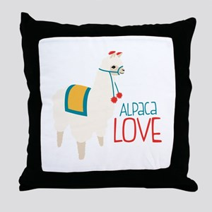 Alpaca Love Throw Pillow