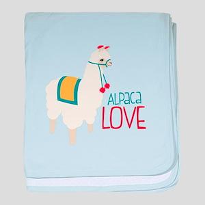Alpaca Love baby blanket
