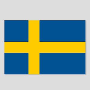 Sweden Flag Postcards (Package of 8)