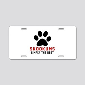 skookums Simply The Best Ca Aluminum License Plate