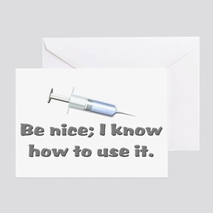 Funny gifts for nurses Greeting Card