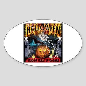 HALLOWEEN 1 Oval Sticker