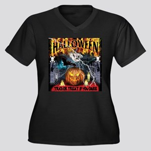 HALLOWEEN 1 Women's Plus Size V-Neck Dark T-Shirt