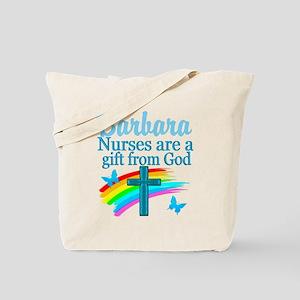 FAITH FILLED NURSE Tote Bag
