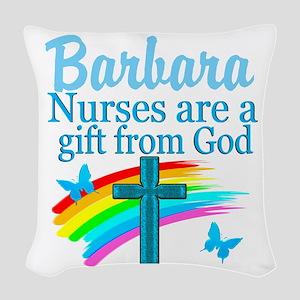 FAITH FILLED NURSE Woven Throw Pillow