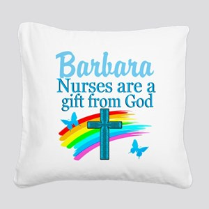 FAITH FILLED NURSE Square Canvas Pillow