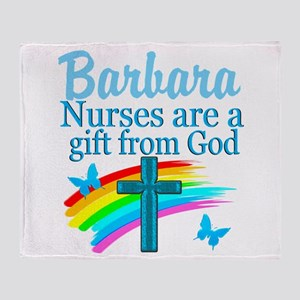 FAITH FILLED NURSE Throw Blanket