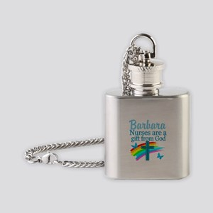FAITH FILLED NURSE Flask Necklace