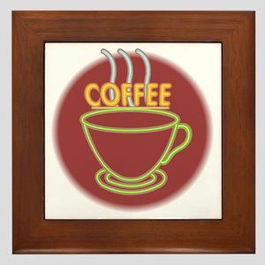 Steaming Coffee Framed Tile