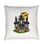 Halloween Haunted House Ghosts Everyday Pillow