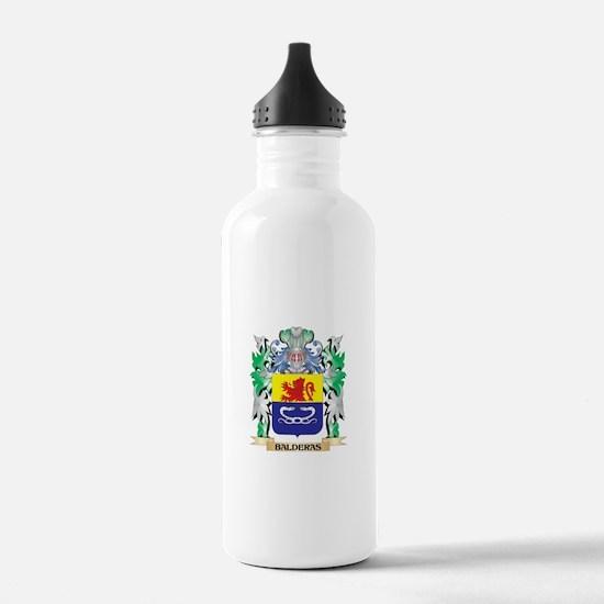 Balderas Coat of Arms Water Bottle