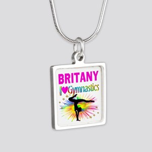 GYMNAST DREAMS Silver Square Necklace