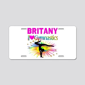 GYMNAST DREAMS Aluminum License Plate