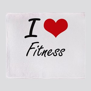 I love Fitness Throw Blanket