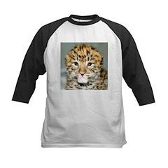 Amur Leopard cub Kids Baseball Jersey