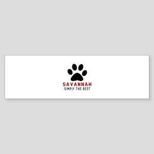 Savannah Simply The Best Cat Desi Sticker (Bumper)