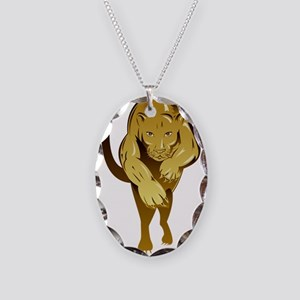 Lioness Necklace Oval Charm