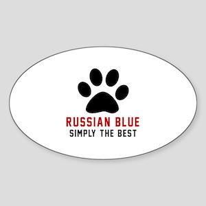 Russian Blue Simply The Best Cat De Sticker (Oval)