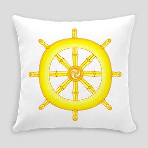 Wheel of Dharma Everyday Pillow