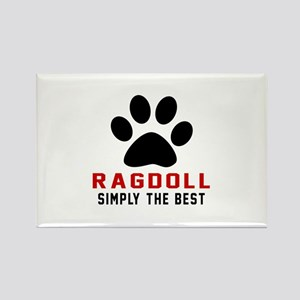 Ragdoll Simply The Best Cat Desig Rectangle Magnet