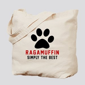 Ragamuffin Simply The Best Cat Designs Tote Bag