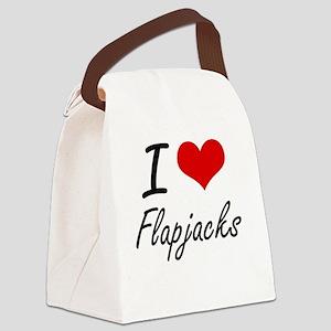 I love Flapjacks Canvas Lunch Bag