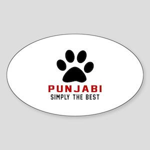 Punjabi Simply The Best Cat Designs Sticker (Oval)