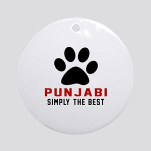 Punjabi Simply The Best Cat Designs Round Ornament