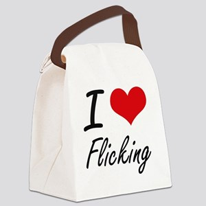 I love Flicking Canvas Lunch Bag