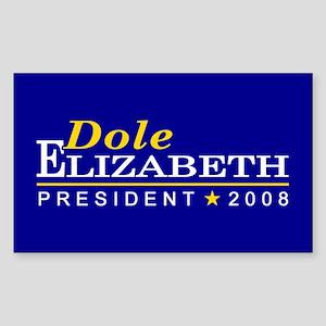 ELIZABETH DOLE PRESIDENT 2008 Sticker (Rectangular