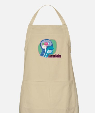 Knit for Brains BBQ Apron