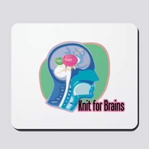 Knit for Brains Mousepad