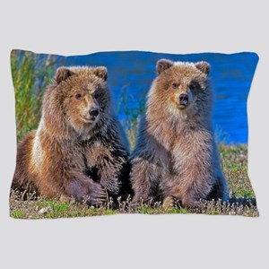 The Grizzly Cub Twins Pillow Case