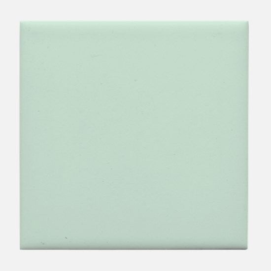 Mint Solid Color Tile Coaster