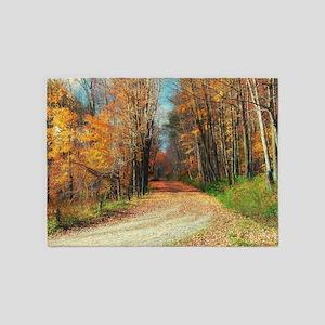 autumn road 5'x7'Area Rug