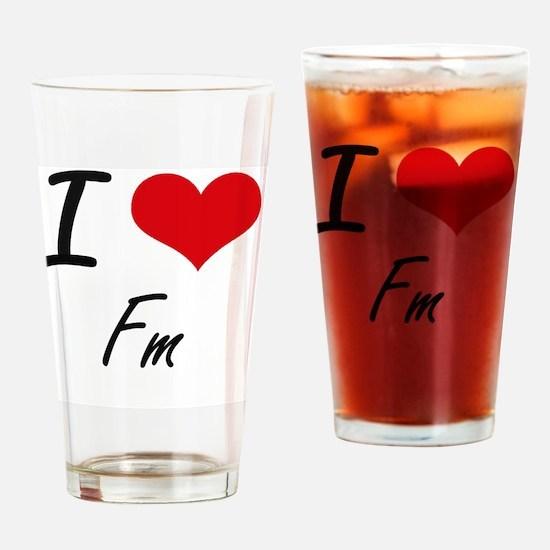 Wkix radio am fm radio station Drinking Glass