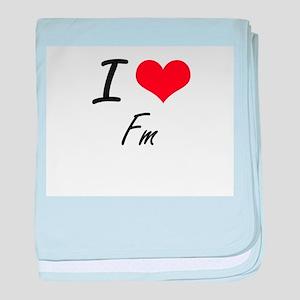 I love Fm baby blanket