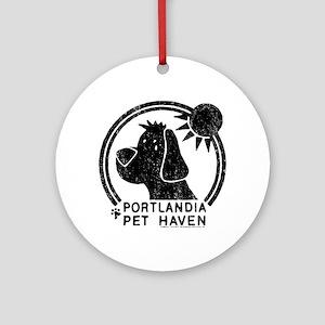 Portlandia Pet Haven Round Ornament