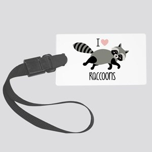 I Love Raccoons Luggage Tag