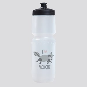 I Love Raccoons Sports Bottle