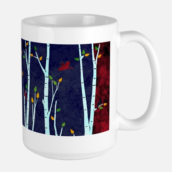 Birch forest Stainless Steel Travel Mugs