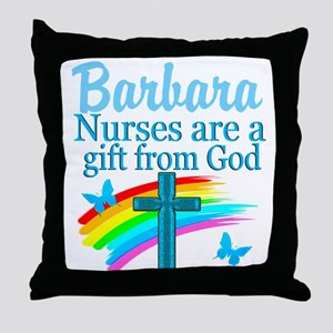 FAITH FILLED NURSE Throw Pillow
