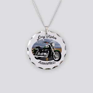 Triumph America Necklace Circle Charm
