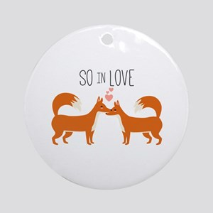 So In Love Round Ornament