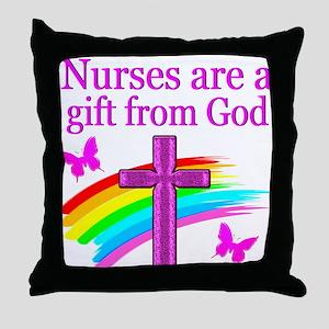 NURSING FAITH Throw Pillow