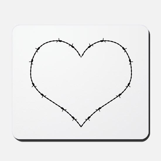 Barbed Wire Heart Mousepad