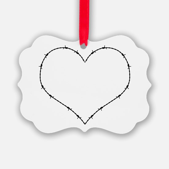 Barbed Wire Heart Ornament