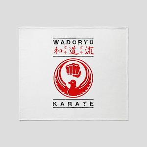 Wadoryu Karate Throw Blanket